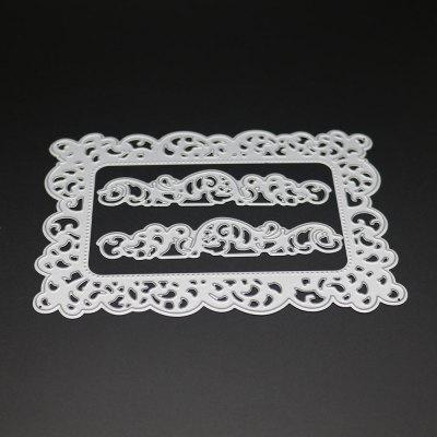 DIY Lace Greeting Card Cover Carbon Steel Cutting Die Embossing Plate creative gifts 3d pop up card greeting
