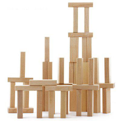 Wood Jenga Balance Beam Building Blocks Toy 54pcs wooden tower wood building blocks kids toy domino 54pcs stacker extract building blocks children educational game gift 4pcs dice