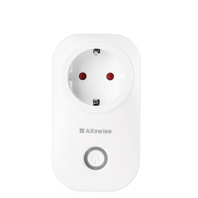 Alfawise WIFI Smart PlugPower Strips<br>Alfawise WIFI Smart Plug<br><br>Brand: Alfawise<br>Package Contents: 1 x Smart Plug, 1 x English User Manual<br>Package size (L x W x H): 12.10 x 7.20 x 8.00 cm / 4.76 x 2.83 x 3.15 inches<br>Package weight: 0.2360 kg<br>Product size (L x W x H): 6.30 x 7.30 x 11.00 cm / 2.48 x 2.87 x 4.33 inches<br>Product weight: 0.1320 kg