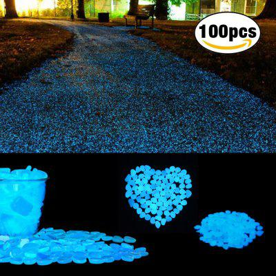 COZZINE Glow in The Dark Pebbles Luminous Cobblestones Set of 100