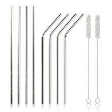 COZZINE Stainless Steel Drinking Straw Set of 8