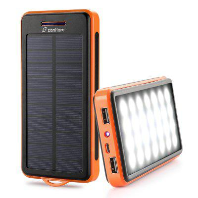 zanflare WN - 157 Solar Charger - BLACK AND ORANGE