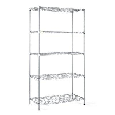COZZINE 5 Shelf Steel Wire Storage Shelving Unit