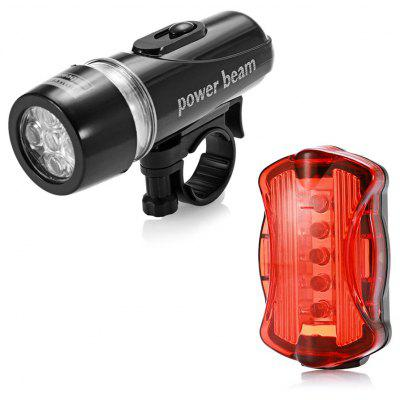 Led-uri 5 LED-uri Bike Head Flash Bicicleta Lampa de avertizare spate