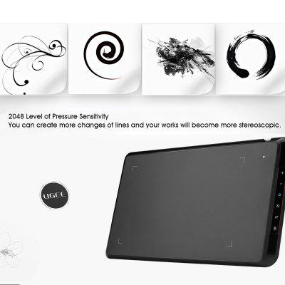 UGEE EX07 8*5 inches Drawing Area Digital Art Graphics Tablet withP50S Drawing Pen