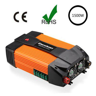 Excelvan 1500W Car Power Inverter 12V DC to 230V AC with Dual USB Port and Dual AC Outlet