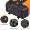 Excelvan 1500W Car Power Inverter 12V DC to 230V AC with Dual USB Port and Dual AC Outlet - BLACK AND ORANGE