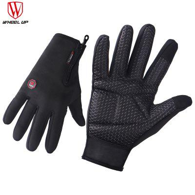 WHEEL UP Touch Screen High QualityCtotton Sweatshirt  Winter Cycling Hiking Skiing Men Women Sport Gloves M Black