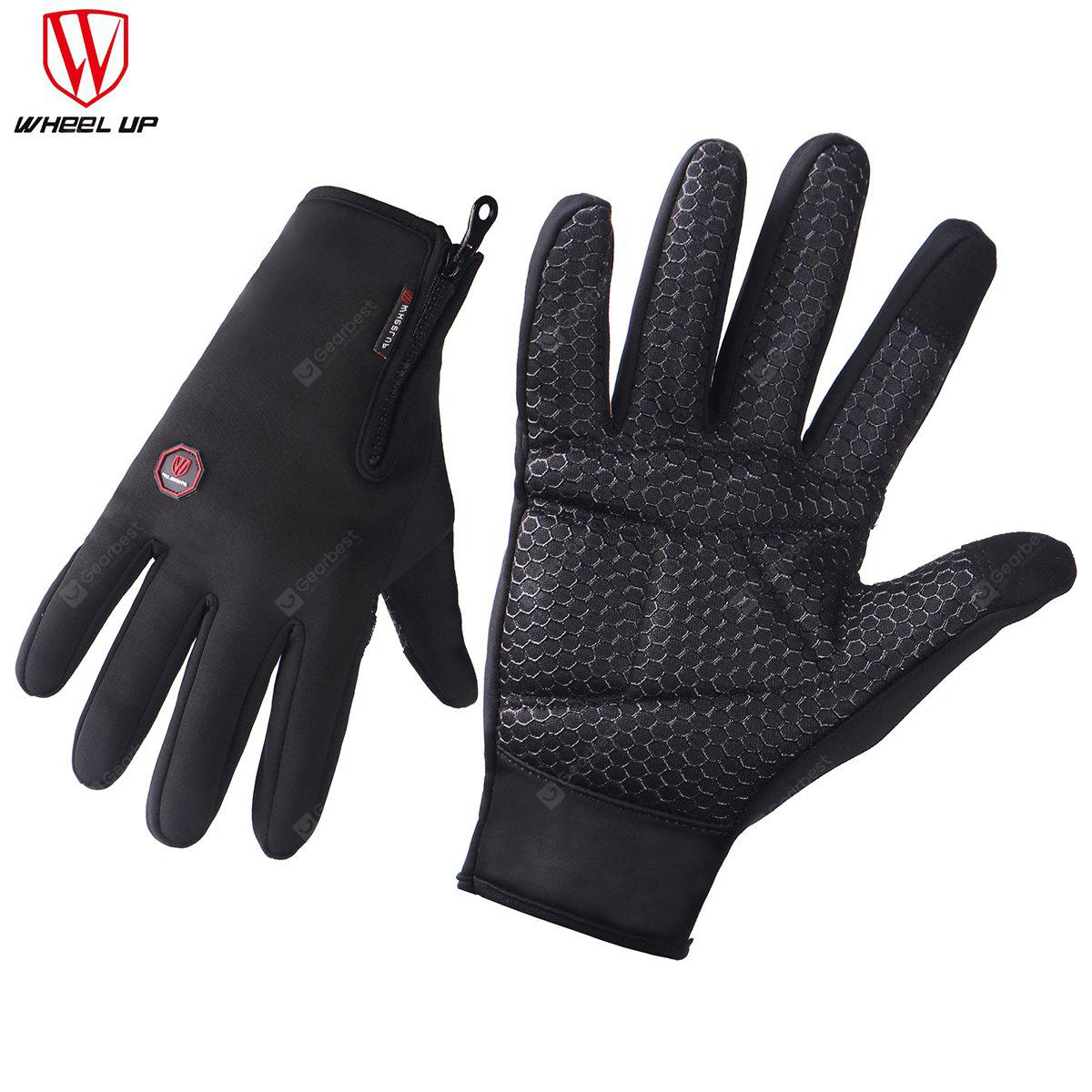 WHEEL UP Touch Screen High QualityCtotton Sweatshirt  Winter Cycling Hiking Skiing Men Women Sport Gloves L Black