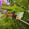 Finether Telescopic Long Reach Aluminum Cut & Hold Pole Pruner and Saw, Branch Trimmer with Bypass Pruner, Saw Blade, Guide Rod, Shoulder Strap, Work Gloves, 3 Sections, Extends from 5.91 to 13.12 ft - ORANGE