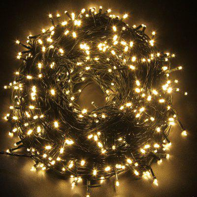 Gearbest Lampwin Safe 31V 500 Leds 100M 328 Feet Warm White String Fairy Lights Lighting 8 Modes for Christmas Tree Party Wedding Garden UK