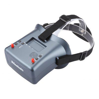 New Arrival LS-008D 5.8G 40CH 2000mA Built-in Battery DVR Diversity FPV Goggles For RC Model sky 708 40ch 7 monitor hdmi input and diversity rx dvr ppm function
