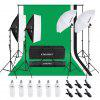 Craphy 8.5*10ft Background Support System and 6*45W Umbrellas Softbox Continuous Lighting Kit for Photo Studio Product UK