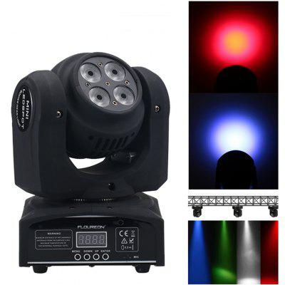 Floureon® 80W 8 Cree LED Moving Head Double Face Led Wash Stage Light,4 in1 RGBW,DMX512,15/21CH For Indoor Club,Disco Party Show, DJ, KTV, Sound Active,US.