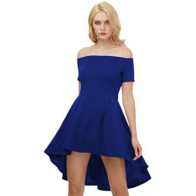 Kenancy Big Swing Kleid Sexy Schulterfrei Kurzarm Unregelmäßiges Kleid Weibliche Elegante Party-Kleid