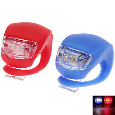 High Quality 2pcs Novel Frog LED Bicycle Light Rear Tail Flashing (Blue and Red)Bike Lights<br>High Quality 2pcs Novel Frog LED Bicycle Light Rear Tail Flashing (Blue and Red)<br>