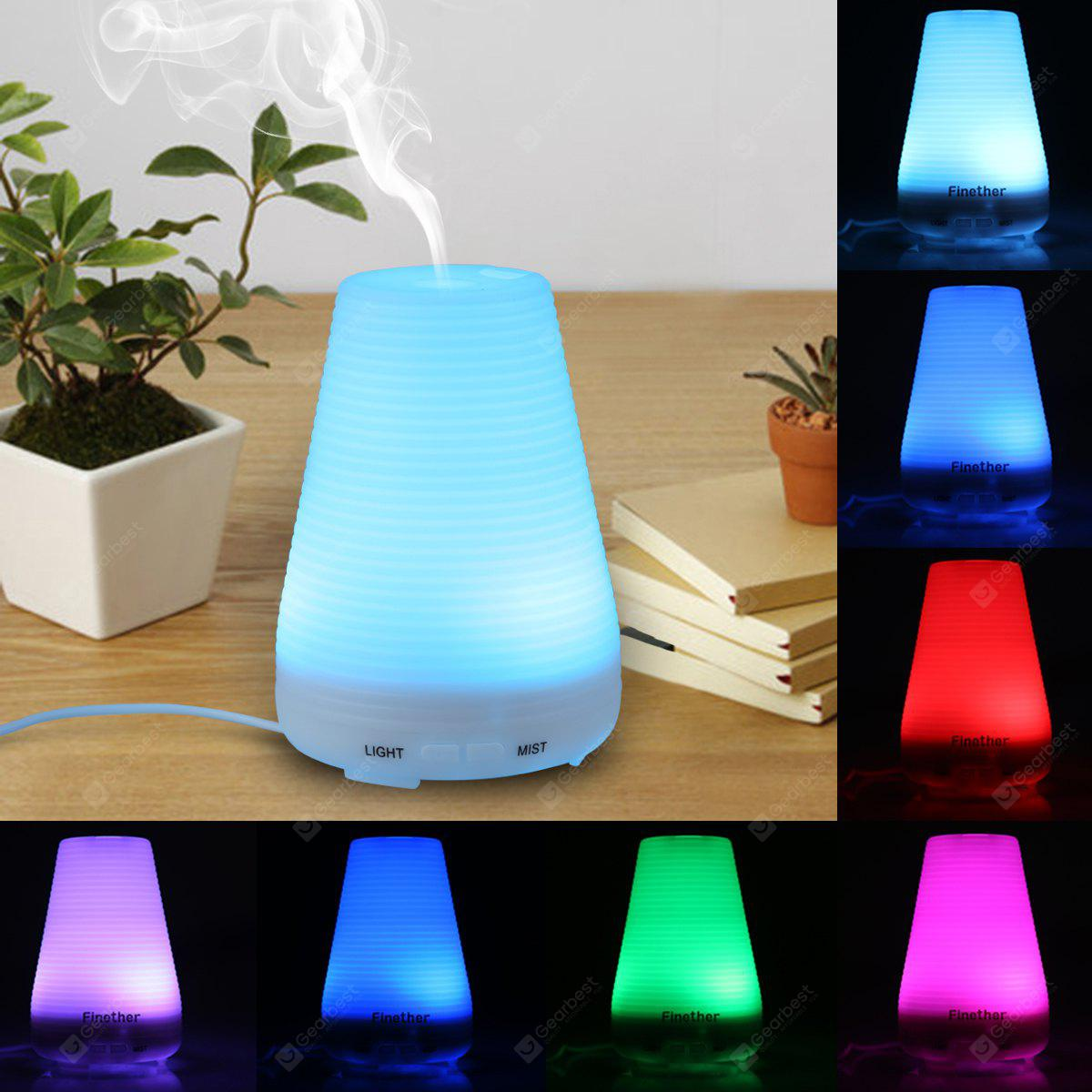 Finether Aroma Diffuser Ultrasonic Humidifier Air Mist Aromatherapy Purifier 100ML FH-001 UK