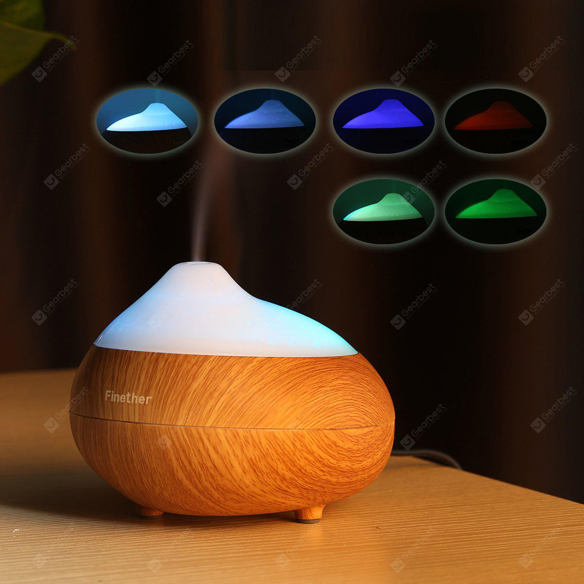 Finether 110ml Portable Essential Oil Aroma Diffuser Ultrasonic Humidifier Air Mist Aromatherapy Purifier LED Light UK