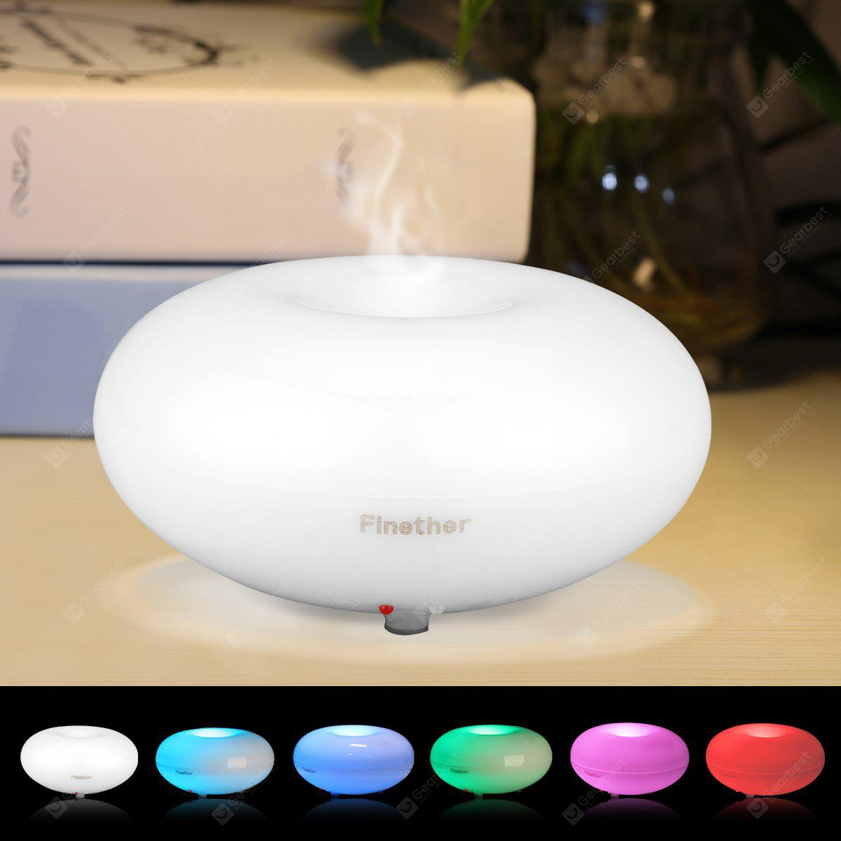 Finether Essential Oil Aroma Diffuser Ultrasonic Humidifier Air Mist Aromatherapy Purifier Clear GX-03K UK