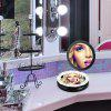 Ovonni Lady Beauty 1X/5X Magnification Makeup Mirror Portable Foldable Double Side 10pcs LED Lights Cosmetic Mirror - BLACK