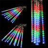 (EU STRING LIGHT TUBE MULTI) Finether 13.1 ft 8 Tube 144 LED Meteor Shower Rain Snowfall Plug-In String Lights for Holiday Christmas Halloween Party Indoor Outdoor Decoration Commercial Use, Multi-Col - COLORIDA