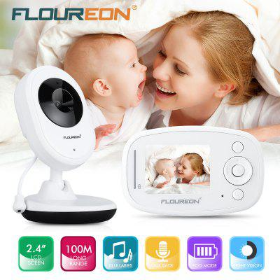 FLOUREON 2.4'' Digital Wireless  2.4 GHz Baby Monitor LCD Video Nanny Security Camera Temperature Display 2 Way Talk Night Vision Lullabies Radio babykam video nanny wireless baby monitor 2 4 inch lcd ir night vision intercom lullabies temperature monitor digital 2x zoom