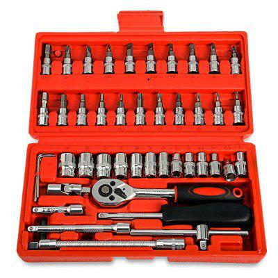 Replaitz 46pcs 1/4-Inch Socket Ratchet Wrench Combo Tools Kit for Auto Repairing 1/4Other Car Gadgets<br>Replaitz 46pcs 1/4-Inch Socket Ratchet Wrench Combo Tools Kit for Auto Repairing 1/4<br>