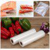 Finether 20 cm x 500 cm Vacuum Sealer Rolls 2 Packs, BPA Free & FDA Approved for Food & Non-food Storage Sous Vide Commercial and Home Use, Microwave & Freezer Safe - TRANSPARENT