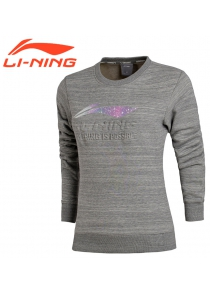Li-Ning Women's Fashion Knit Top No Cap Hoodie AWDM592