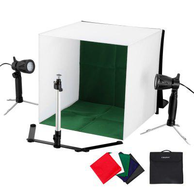 Craphy Table Top Accent Light Studio Continuous Portable Lamp with Stand for Portable Video, Portriat and Product Photography, Black/Blue/White/Red/Green 5 kinds of cloths, Two Pieces 50W LED LightsPhotographic Lighting<br>Craphy Table Top Accent Light Studio Continuous Portable Lamp with Stand for Portable Video, Portriat and Product Photography, Black/Blue/White/Red/Green 5 kinds of cloths, Two Pieces 50W LED Lights<br>