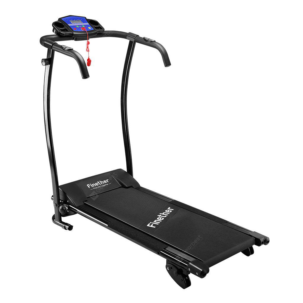 Finether Folding Electric Motorized Treadmill Running Jogging Walking  Machine Portable Gym Equipment with Manual Incline, Heart Rate Monitor for