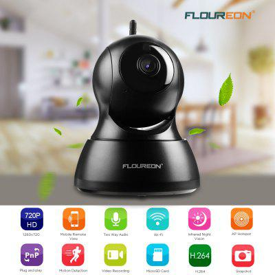 FLOUREON Wifi 1.0 Megapixel 720P  Wireless ONVIF CCTV Security IP Camera EU hd 720p 3 6mm auto zoom lens dome security cctv wireless ip camera wifi pan tilt ir cut onvif night vision micro sd card