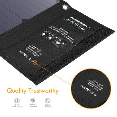FLOUREON Solar Charger 28W Solar Panel with Triple USB Ports Waterproof Foldable for Smartphones Tablets and Camping Travel 80pcs poly solar cell 156x39mm polycrystalline kits high quality for diy 80w solar panel solar generators