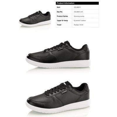Li-Ning Men\s Leather Classic Shoes Skatingboard Sneakers AGLM013-2Men's Sneakers<br>Li-Ning Men\s Leather Classic Shoes Skatingboard Sneakers AGLM013-2<br><br>Brand: LI-NING<br>Closure Type: Lace-Up<br>Features: Breathable<br>Highlights: Breathable<br>Package Contents: 1 pair of shoes<br>Package size: 30.00 x 20.00 x 10.00 cm / 11.81 x 7.87 x 3.94 inches<br>Package weight: 0.8000 kg<br>Sole Material: Rubber<br>Upper Height: Middle