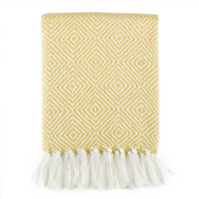 LANGRIA Geometric Pattern Knitted Tasseled Fringe Throw Blanket Reversible Cozy Soft Warm Bed Sofa Couch Multifunctional Throw Lightweight Easy Care for All Seasons, 50 x 60, YellowHome &amp; Garden<br>LANGRIA Geometric Pattern Knitted Tasseled Fringe Throw Blanket Reversible Cozy Soft Warm Bed Sofa Couch Multifunctional Throw Lightweight Easy Care for All Seasons, 50 x 60, Yellow<br>