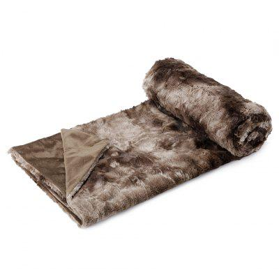 LANGRIA Faux Fur Fleece Throw Fluffy Cozy Soft Dyed Blanket Warm Breathable Bed Couch Throw Lightweight Easy Care for Winter, 60 x 80, Brown high quality 100% combed cotton bed blanket full queen solid color one piece kids children adult warm soft sofa throw blanket