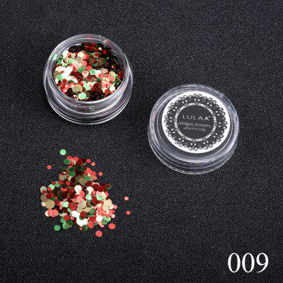 DIARY 12 Boxes Nail Iridescent Flakies Sequins Colorful Round Glitter Paillette Manicure Nail Art Decoration