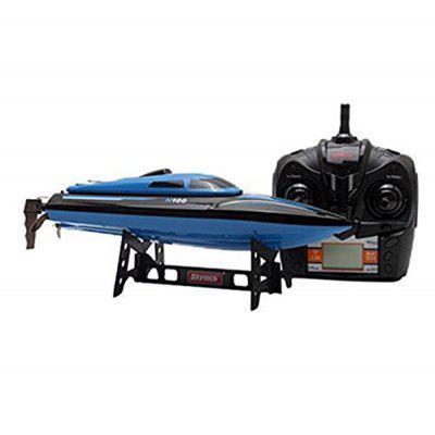 Virhuck Rc Boat H100 2.4G 4CH Remote Control Boat With High Speed(Only Work In The Water) With Two Batteries- BLUE