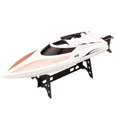 Virhuck RC Boat, H102 2.4GHz High Speed (40KM/H)Remote Control Electric Racing Boat Automatically 180 Degree Flipping Transmitter- GRAY