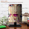 Ovonni 10X Magnifier LED Touch Screen Makeup Mirror Portable 20 LEDs Lighted Make-up Cosmetic Mirror Adjustable Vanity Tabletop Countertop - BLACK