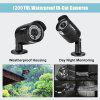 FLOUREON 1200TVL Waterproof Outdoor CCTV DVR Security IR-CUT Camera - BLACK