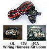 Relay Switch Control Wiring Harness - BLACK