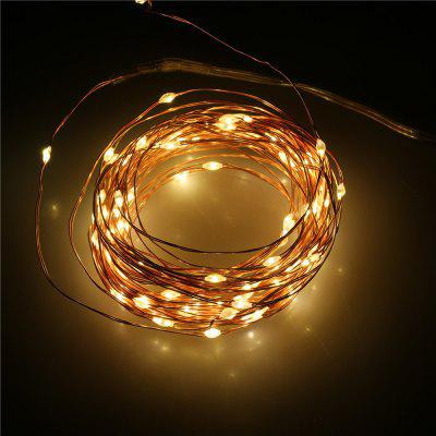 Lampwin® Led Starry String Light Copper Wire Lights Decorative Lights, 3*AA Battery Operated Lights Set, with Remote Control Dimmer. - Perfect Bedroom, Indoor Outdoor Decorations/ Ornaments - 10M 100