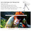 Exquizon GP1S DLP Projector AV IN/SD/USB/HDMI Home Theater 800*480 Projector - SILVER