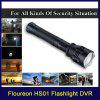Floureon®Multi-functional Waterproof LED Flashlight With HD 720P DVR Recorder,Aluminum Alloy Materials,3000 mAh rechargeable Lithium battery,With USB Output For Phone charging,Support Laser Location/V