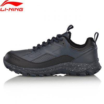 Li-Ning Men Shoes Hiking Boots Warm Shell Walking Sport Shoes Comfort Sneakers Stability Li Ning Sports Shoes AGCM137