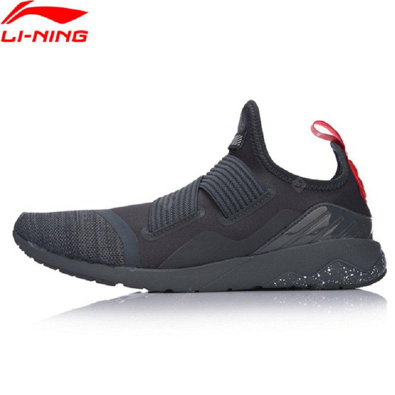 Li-Ning Men GLR190 FT Walking Shoes Textile Upper Breathable Sneakers Soft Comfortable LiNing Sports Shoes GLKM083-2