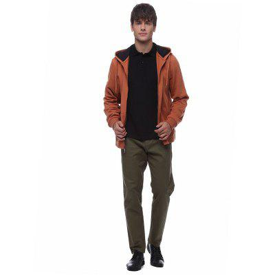 Men Plus Size Fleeced Hooded Outfit Jacket