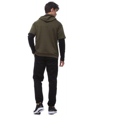 Men\squality long-sleeved hooded drawstring fake two sweatshirts sweaterMens Hoodies &amp; Sweatshirts<br>Men\squality long-sleeved hooded drawstring fake two sweatshirts sweater<br><br>Material: Cotton, Polyester<br>Package Contents: 1 * sweater<br>Shirt Length: Regular<br>Sleeve Length: Three Quarter<br>Style: Fashion<br>Weight: 0.4000kg