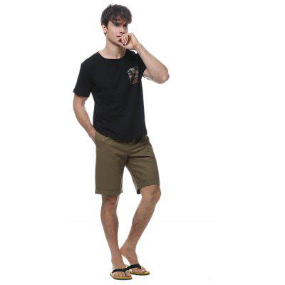Men\s printed pocket crew neck t-shirtMens Shorts<br>Men\s printed pocket crew neck t-shirt<br><br>Collar: Round Neck<br>Material: Cotton, Spandex<br>Package Contents: 1 * t-shirt<br>Pattern Type: Patchwork<br>Sleeve Length: Short<br>Style: Fashion<br>Weight: 0.1800kg
